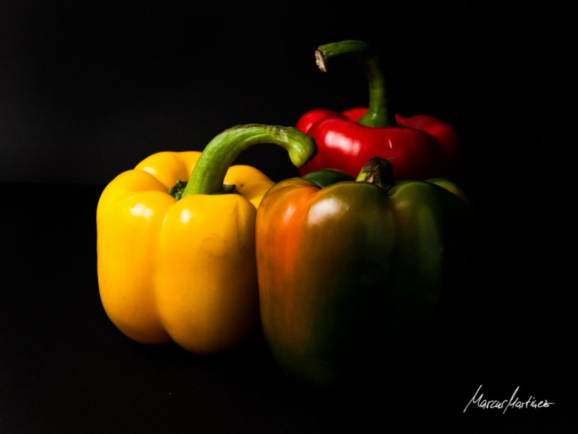 Paprika in drei Farben