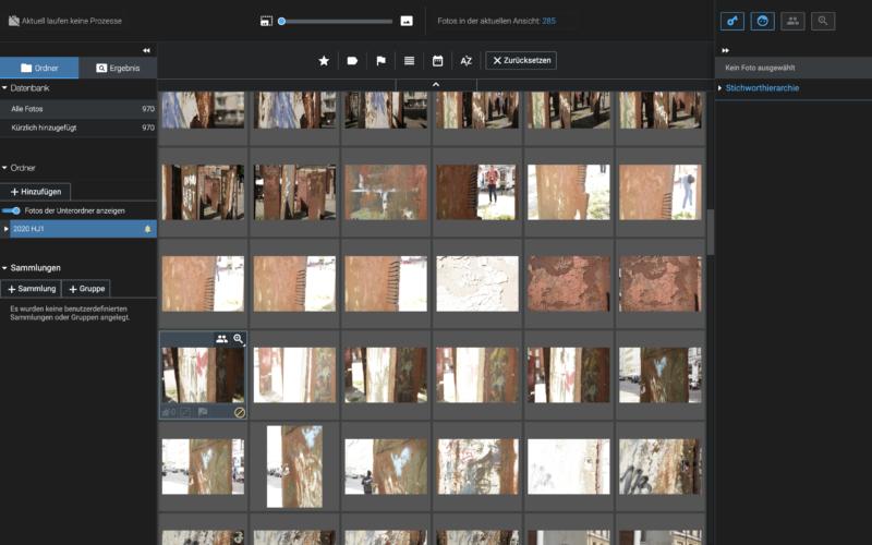 Screenshot vom Programm Exire Foto